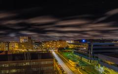 Noches de Madrid. (Amparo Hervella) Tags: paisajeurbano madrid españa spain nube estrella largaexposición d7000 nikon nikond7000 comunidadespañola