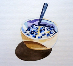 Black fruits, by Ana Paula P. - DSC00631 (Dona Minúcia) Tags: art painting watercolor study paper fruit bowl black berry stilllife arte pintura aquarela fruta frutinha preta tigela naturezamorta