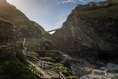 L e V e L s (NVOXVII) Tags: tintagel rocks coast cornwall steps levels cliffface sea beach bay bridge bluesky landscape beauty awesome nationaltrust lightandshadow nikon outdoor stunning history