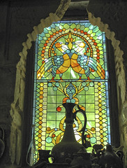 Vidriera en casa Titos (Micheo) Tags: alfareríatitoubeda pottery traditions tradiciones barro clay cerámica vidriera colores colours cristal glass ventana