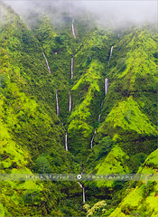 The Weeping Wall - Kauai - Hawaii (~ Floydian ~ ) Tags: henkmeijer photography floydian hawaii kauai hawaiian theweepingwall waterfall waterfalls mountwaialeale island islands rain raining heli helicopter aerialview nature american landscape landscapes viewpoint canon canoneos1dsmarkiii