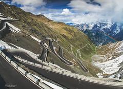 Stelvio. (God_speed) Tags: stelvio pass italy south tyrol alps twisty roads mountain passo dello famous touring road trip mountains snow ice hairpin