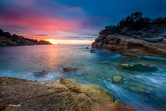Awakens the horizon (Kiu Photography) Tags: colours playa beach lillot seascape sea singhray lee filters sun ametllademar dawn