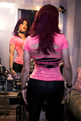 Pink top, mirror mirror on the wall.. (Juliapanther Over 36 million views, thanks!!!) Tags: julia panther juliapanther tgirl posing mirror reflection pibk top goth gothic makeup makeover red hair redhead lipstick lips pink glamour portrait
