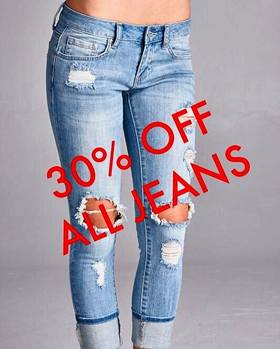 THIS WEEKEND  @TheSourceCo! 🔥ALL JEANS ARE ON SALE🔥  30% OFF NEW ARRIVALS.  50% Off Older Stocks. ☎️268.562.3535 For More Info