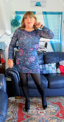Very short dress (Trixy Deans) Tags: crossdresser cd cute crossdressing crossdress classic classy crossdreeser dress shortdress tgirl tv transvestite transgendered transsexual tranny tgirls transvesite crossdresse xdresser sexy sexytransvestite sexyheels sexylegs sexyblonde