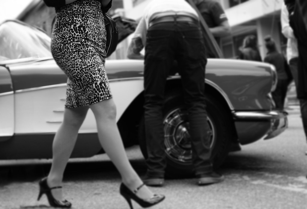Apologise, but, Rockabilly girls bent over cars