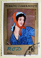 great stamp Turkey 150k Persian, persian woman (painting by Hossein Behzad (1894-1968) Perserin, la persa, Persane, 波斯人, персия́нка, a persa, perzsa,  Περσικά; pullari Türkiye postage 150 Kurus 邮票 土耳其 sellos Turquía طوابع تركيا selos znaczki スタンプ トルコ Turk (stampolina, thx ! :)) Tags: blue red portrait woman beautiful turkey postes person gold stamps retrato türkiye porträt stamp türkei porto frau ritratto postage franco portre портрет posta revenue selo marka turquía sello turchia sellos トルコ 肖像 briefmarken turkia kurus 土耳其 邮票 francobollo selos timbres турция 터키 марки timbreposte francobolli bollo بورتريه 肖像画 切手 persien 우표 znaczki تركيا persane スタンプ 波斯人 марка طوابع टर्की perserin pullari филателия postapulu jíyóu hosseinbehzad टिकटें персия́нка apersa