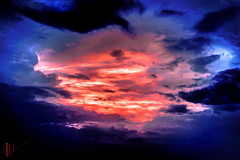 """""""Storm's Coming"""" -- 2006 (Dreamland Visions Photography) Tags: blue sunset red clouds photoshop d50 intense nikon storms lightroom"""