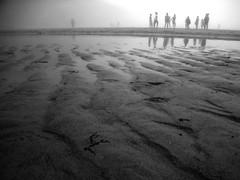 Sem costa / S costa ? (LetsLetsLets) Tags: sea reflection praia beach portugal water gua fog mar sand eau areia sable ghosts odeceixe algarve alentejo plage reflexo julho fantasmas nevoeiro 2015 poas atlntico vultos costavicentina marbaixa seixe