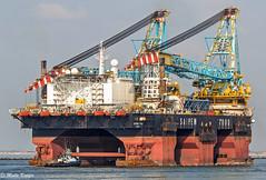 SAIPEM 7000 (maritime.fotos) Tags: big rotterdam platform technic maasvlakte eni nieuwewaterweg plattform floatingcrane saipem saipem7000 schwimmkran maasmond