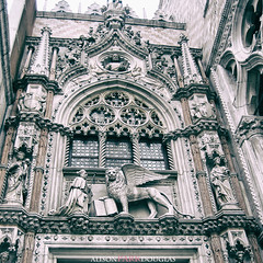 Venice architectural details (alisonparkdouglas) Tags: travel venice italy architecture wings catholic details gothic lion romantic architecturaldetails travelphotography wingedlion saintmark photobyalisonparkdouglas