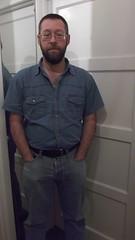 DSCF6683 (rugby#9) Tags: door shirt mirror belt jeans levis blackbelt whitedoor 501s denimshirt shortsleeveshirt levijeans levi501s 501jeans levi501 denimshortsleeveshirt