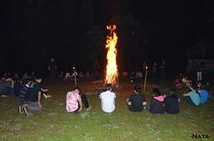 Malam terakhir di jubilee camp ditutup dengan aktivitas api unggun