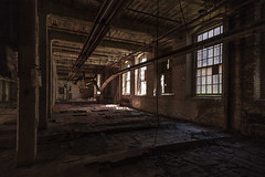 helter. (stevenbley) Tags: abandoned rust gun decay connecticut rifle ct rifles urbanexploration guns grime armory woodfloors urbex manufacturing histoical warpedwood inductrial leakyroofs guerillahistorian