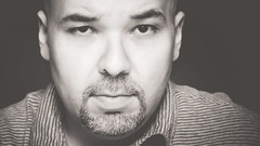 Selfie 2 (Khaled A.K) Tags: portrait blackandwhite man male monochrome self person photography 50mm mono photo blackwhite nikon image picture portraiture khaled bnw selfie d7000 kashkari