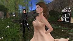 You never know who youll run into (alexandriabrangwin) Tags: world black beautiful leather forest computer store 3d graphics funny shiny uniform dress shot awesome peach rubber glossy jacket secondlife virtual fallen latex corset sneaky catsuit cgi afk hugosdesign alexandriabrangwin