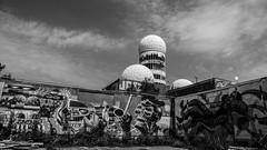 20150724-P1000268 (katharina_amari) Tags: blackandwhite berlin architektur bauten teufelsberg lostplaces beelitzerheilstätten