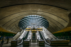 escalators (Steve J Cottis) Tags: london up stairs down docklands escalators canarywharf tokina1116mm28 nikond5300