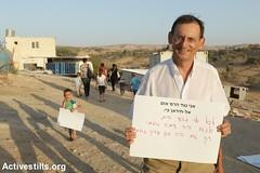 Solidarity event, Umm al-Hiran village, Negev desert, Israel, 1.10.2015 (activestills) Tags: israel politicians negev bedouins displacement naqab mikikratsman topimages unrecognisedvillage prawerplan ummalhiran palestinians48 hadashparty