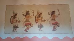 Restored paintings in the Painted Desert Inn