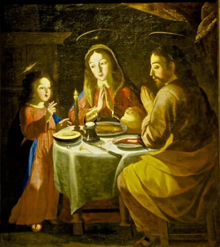 Holy family (1674) - Josefa de Óbidos (1630 - 1684)