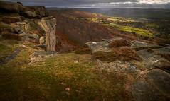 Curbar Edge. Peak District (chrisduncash) Tags: autumn sandstone derbyshire peakdistrict ridge edge dales millstonegrit baslow calver curbar