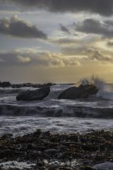 Heybrook Bay (jonsomersphotos) Tags: sea beach water clouds coast waves plymouth wave spray shore seashore breakingwave heybrookbay