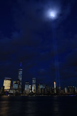 9-11 Tribute In Light 03 (Amaury Laporte) Tags: newyorkcity usa newyork unitedstates 911 landmarks northamerica tributeinlight memorials september11memorial