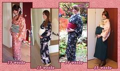 Pregnancy kitsuke overview (Saiya-chan) Tags: baby holland netherlands japan nederland pregnant kimono overview kitsuke oranda