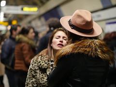 Underground Fur (Magic Pea) Tags: street london hat underground subway fur photography photo women candid tube platform streetphotography camdentown jackets magicpea