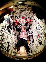 Cubicle Creation - I.O.T. Art (Oct 2012) (robvonramm) Tags: streetart graffiti brighton boobs toilet markers iownthis iot stickerbomb wompom