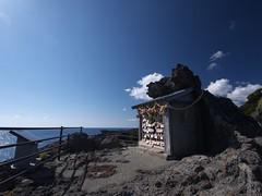 Irozaki promontory (elminium) Tags: sea sky japan clouds shrine shizuoka izu promontory irozaki dmcg1