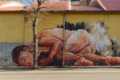 Paura (Giancarlo Vetrone) Tags: face graffiti pain eyes fear murals occhi terror murales abruzzo laquila dolore paura terrore abruzzoaquilano