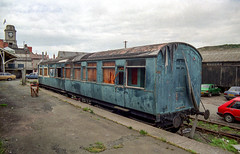 Camping Coach? (yeahwotever) Tags: 35mm aberystwyth carmarthen great railway station train western abandoned disused siding vale rheidol narrow guage volunteer sleeping camper scrap dormitory m020460