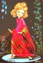 Vintage Bigeyd Girl Postcard (Sillyshopping) Tags: vintage 60s postcard 70s bigeyed postcardcollection bigeyart