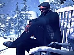 Travelin' Man (Kryptic989) Tags: snow secondlife relaxation virtualworld mafiastyle daybeforechristmaseve