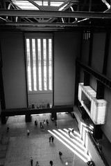 Secular Cathedral (marktmcn) Tags: tate modern turbine hall windows light streaming box high view from roof rafters art gallery london bankside power station architect sir giles gilbert scott architects herzog de meuron sony dsc rx100 west window