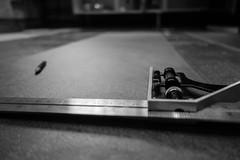 275/366 - Set square (Spannarama) Tags: 366 october blackandwhite pencil setsquare floor lowviewpoint flooring vinylplanks floorfitting home diy kitchen cabinets