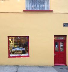 Shopfront (msganching) Tags: shopfront dingle yellow red christmas2016 ireland kerry traditional