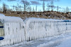 Feeling the Freeze (tquist24) Tags: hdr hff michigan nikon nikond5300 tiscorniapark blue clouds cold fence frozen geotagged ice outdoors sanddunes sky tree trees white winter