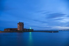 Broughty Ferry Castle - Cool Blue with a Flash of Green - Broughty Ferry by Dundee Scotland (Magdalen Green Photography) Tags: broughtyferrycastle coolblue flashofgreen blue green longexposure scottishcastles broughtyferry dundee scotland water castle magdalengreenphotography 9374