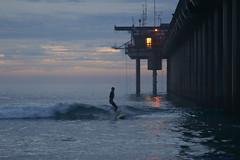 Last Surfer at the Pier (aurora borealis lover1555) Tags: surfer pier scripps scrippssurfer dusk sunset scrippspier scrippspiersunset sandiegosunset namaste januarysurfing sandiegosurfing