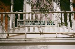 Hassayampa Building Sign (benakersphoto) Tags: wickenburg az arizona film shot 35mm color fujifilm superia iso 400 hassayampa old