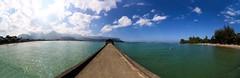 Hanalei Bay (kale.kanaeholo) Tags: hanalei bay pier beach sun surf sky sand ocean panorama scenery landscape hawaiʻi kauaʻi