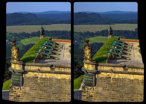 Festung Königstein / Sachsen / Cross-View / Stereoscopy / HDR / Raw