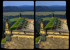 Festung Königstein / Sachsen / Cross-View / Stereoscopy / HDR / Raw (Stereotron) Tags: europe germany saxony sachsen königstein sächsischeschweiz medieval middleages architecture fortress festung burg crosseye crosseyed crossview xview cross eye pair freeview sidebyside sbs kreuzblick 3d 3dphoto 3dstereo 3rddimension spatial stereo stereo3d stereophoto stereophotography stereoscopic stereoscopy stereotron threedimensional stereoview stereophotomaker stereophotograph 3dpicture 3dglasses 3dimage hyperstereo twin canon eos 550d yongnuo radio transmitter remote control synchron synch kitlens 1855mm tonemapping hdr hdri raw