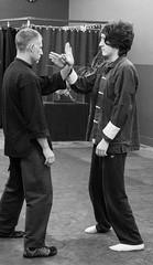 Sifu Trevor Haines Teaching Don Chi-Sau(single sticky hand) to a student (rpennington9) Tags: kungfu wingchun martialarts tennessee chattanooga nikon nikond90 monochrome blzckandwhite