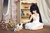 Sera and the kitties (uve_triple) Tags: sera excute pureneemo doll 16scaleddoll bluegables kitty cat diorama handmade window scrapbook original limited azonejp azone