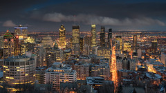 Lights of Montreal (Stefan Sellmer) Tags: night outdoor kanada montreal bluehour d750 nightlight twilight wow architecture cityscape montroyal skyline canada clouds montréal québec ca